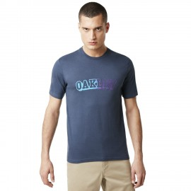 OAKLEY LOGO TEE FOGGY BLUE - 457528-6FB - XL