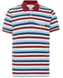 PÁNSKÉ TRIKO - OAKLEY TNP STRIPED POLO SS TEE STRIPE SUNDRIED - 434447-96S-M