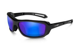 Wiley X WAVE - Gloss Black / Polarized - Blue Mirror - Green - CCWAV09