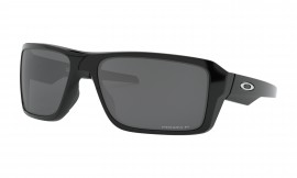 OAKLEY Double Edge Polished Black / Prizm Black Polarized - OO9380-0866