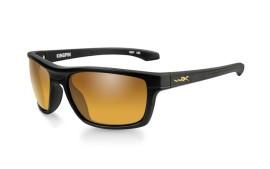 Wiley X KINGPIN - Matte Black / Polarized - Gold Mirror - Amber - ACKNG04