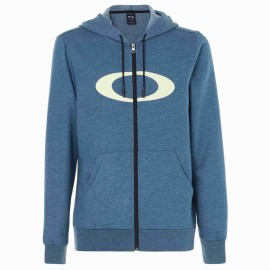 OAKLEY ELLIPSE FZ HOODIE BLUE CORAL HEATHER - 461644-6D9 - M