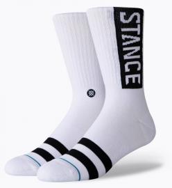 PONOŽKY - STANCE OG CLASSIC -WHITE - M556D17OGG-WHT-WHITE-L