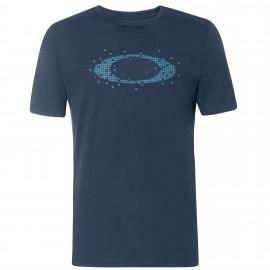 OAKLEY ELLIPSE  DOTS  TEE FOGGY BLUE S - 457930-6FB-S