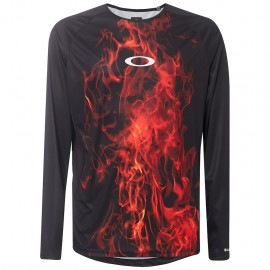 OAKLEY MTB LS tech tee FLAMES - 434362-9A3 - XL