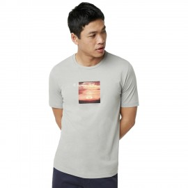 OAKLEY SUNSET PRINT TEE Stone Gray - 457548-22Y - XL