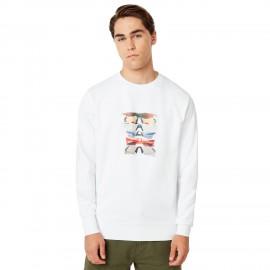 OAKLEY SUNGLASS PRINT CREWNECK White XL - 472572-100-XL