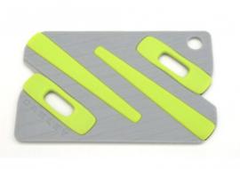 NÁHRADNÍ DÍL - OAKLEY PAPERCLIP EARSOCK KIT/ ICON CARD  BLACK / YELLOW 100-009-002